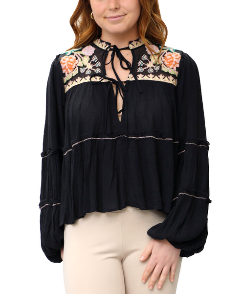 Zoom view for Embroidered Peasant Blouse
