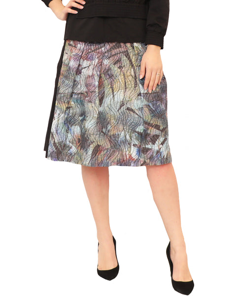 Quilted Watercolor Skirt