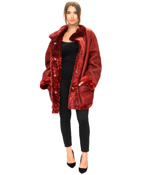 Zoom view for Reversible Shearling Coat