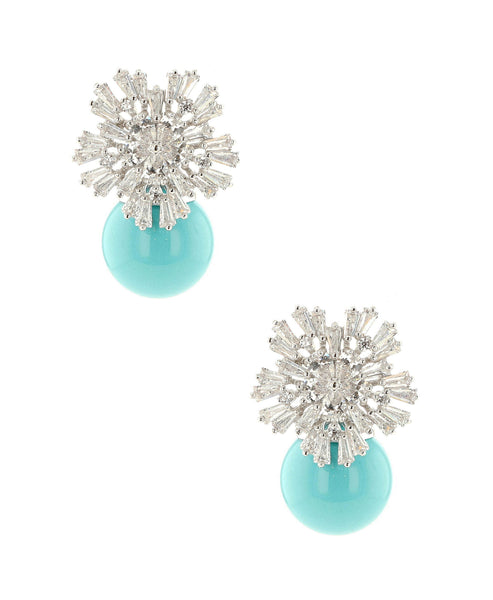 Zoom view for Flower Cluster Stud Earrings A