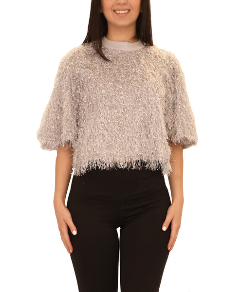 Eyelash Fringe Crop Top