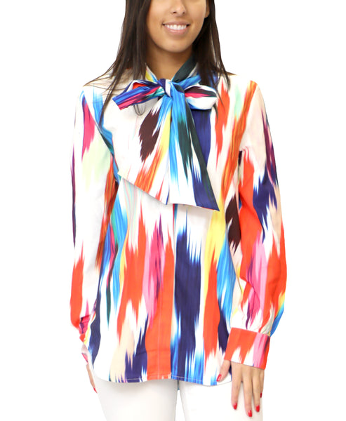 Zoom view for Rainbow Print Blouse