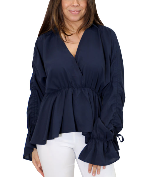 Zoom view for Blouse w/ Ruched Sleeves