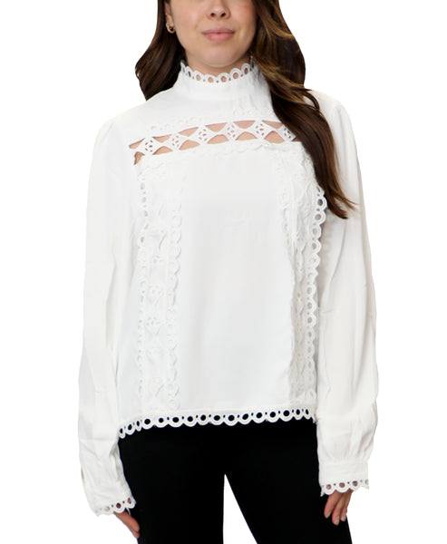 Zoom view for Crochet Detail Blouse A