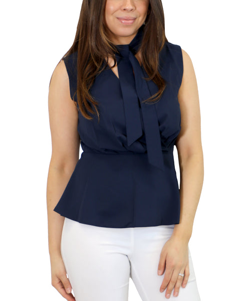 Zoom view for Peplum Blouse w/ Tie Front