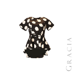 Short Sleeve Polka Dot Jacket