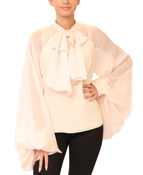 Blouse w/ Oversized Sleeves - Fox's