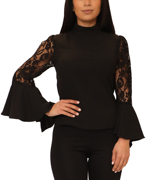 Blouse w/ Lace Sleeves - Fox's