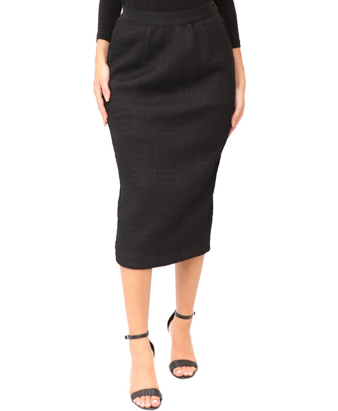 Midi Skirt w/ Crochet Net Overlay - Fox's