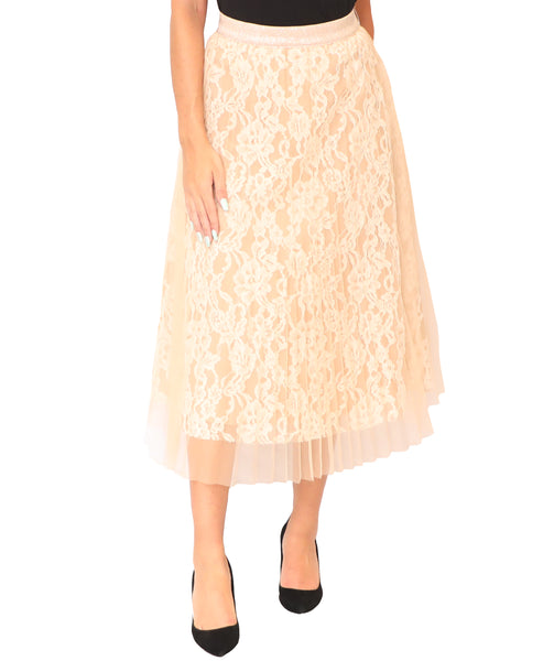 Lace Skirt w/ Tulle Overlay