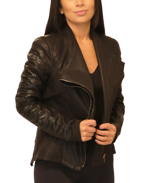 Faux Leather Moto Jacket - Fox's