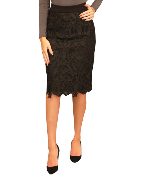 Crochet Lace Pencil Skirt - Fox's
