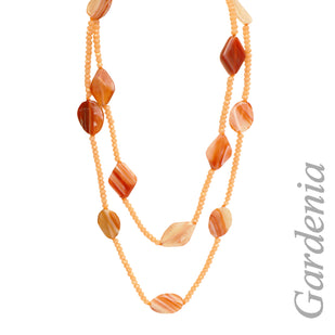 Carnelian Agate & Crystal 2 Strand Necklace