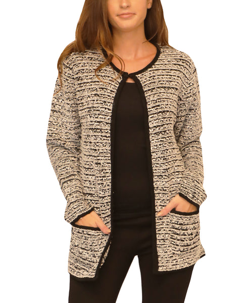 Tweed Cardigan Sweater