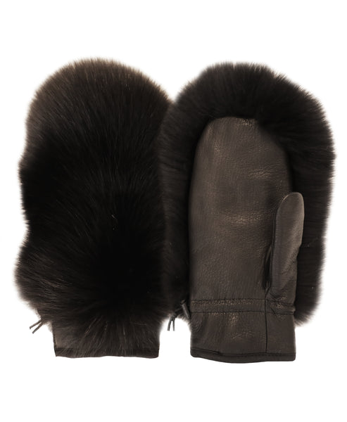 Leather Mitten w/ Fox Fur - Fox's