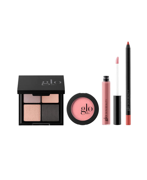 Zoom view for GLO Skin Beauty Desk to Datenight - Cityscape; 4pc (Eyeshadow Pal., Blush, Lip Pencil, Gloss) A