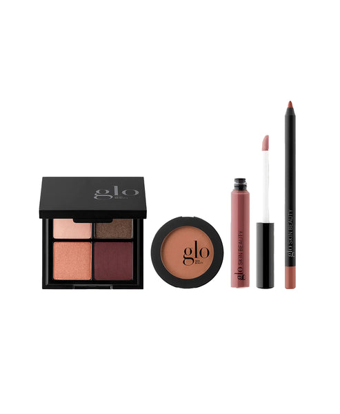 Zoom view for GLO Skin Beauty Desk to Datenight - Rebel Angel; 4pc (Eyeshadow Pal., Blush, Lip Pencil, Gloss) A