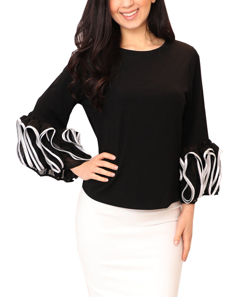 Top w/ Ruffle Sleeves