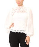 Sheer Lace Blouse w/ Tank- 2 Pc Set