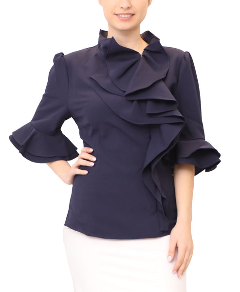 Blouse w/ Ruffle Detail