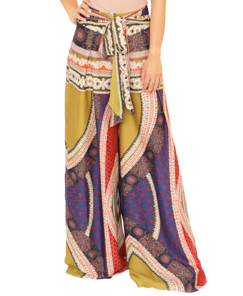 Zoom view for Paisley Print Wide Leg Pants