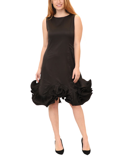 Dress w/ Ruffle Pleated Bottom
