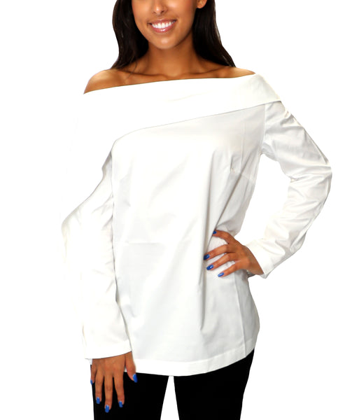 Zoom view for Asymmetrical Shoulder Blouse