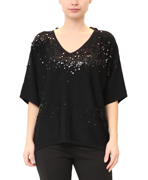 Dolman Sleeve Top w/ Sequin
