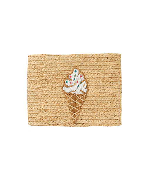 Zoom view for Whimsical Raffia Clutch Bag A