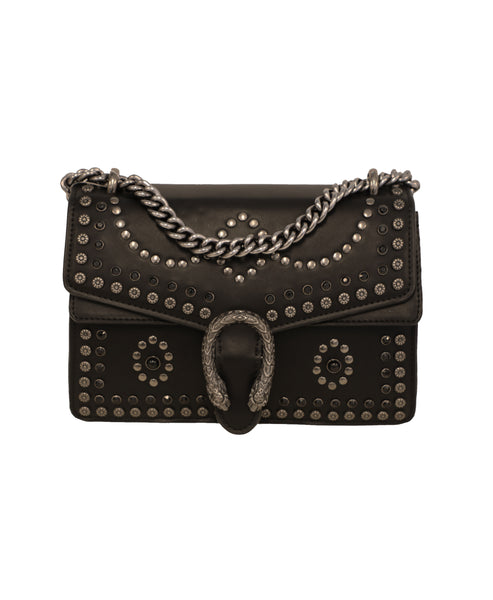 Studded Handbag w/ Chain Strap