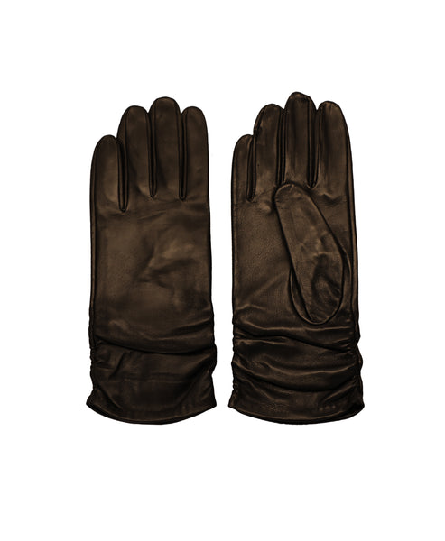 Leather Ruched Tech Glove