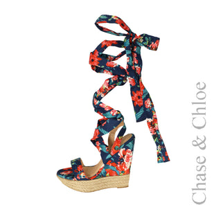Ankle Wrap Wedge Sandal