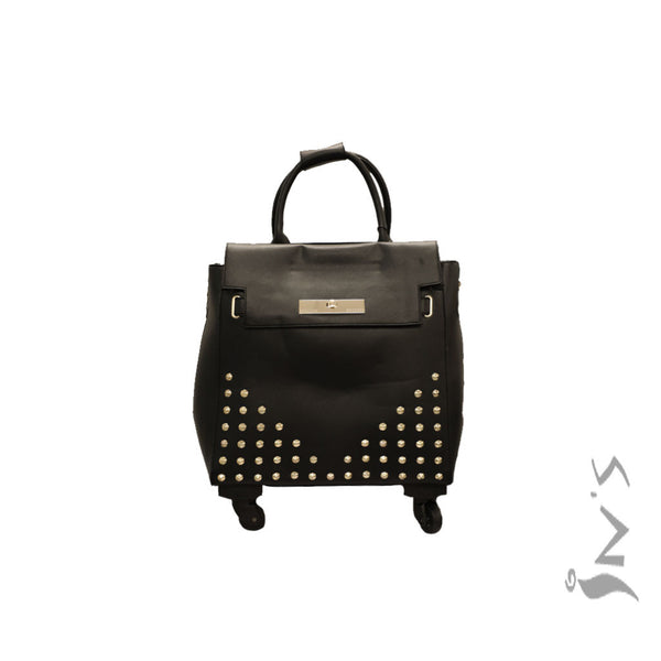 Rolling Briefcase w/ Studs