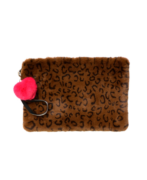 Zoom view for Animal Print Clutch w/ Bag Charm A
