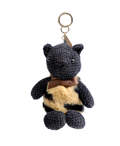 Zoom view for Faux Fur Animal Print Teddy Bear Keychain/Bag Charm A