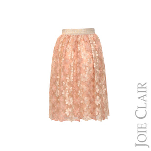Metallic Floral Skirt