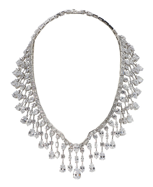Zoom view for Pear Drop Wreath Necklace - Fox's