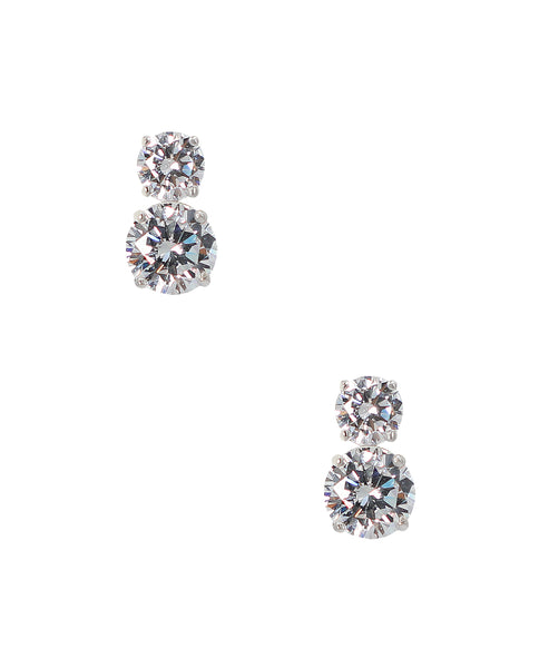 Zoom view for Double Solitaire Stud Earrings