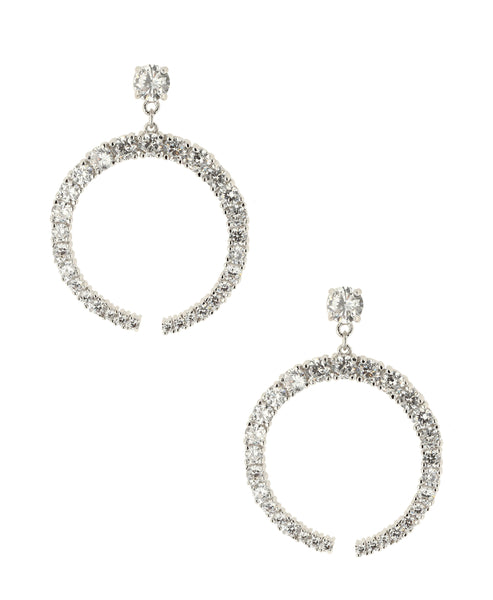 Zoom view for CZ Crescent Earrings