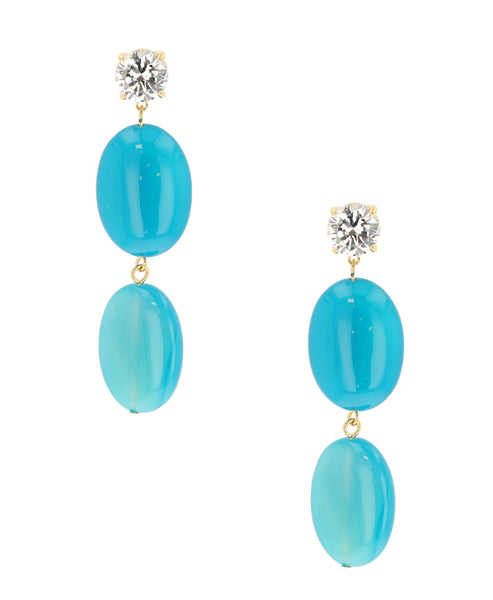 Zoom view for Blue Drop Earrings
