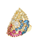 Multi-Colored Stone Ring