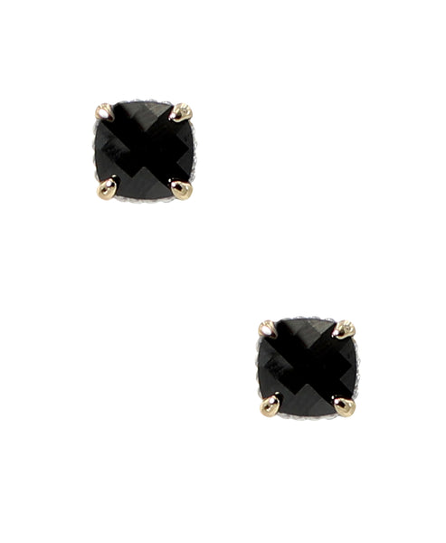 Zoom view for Stud Earrings w/ Rope Trim ONLINE EXCLUSIVE