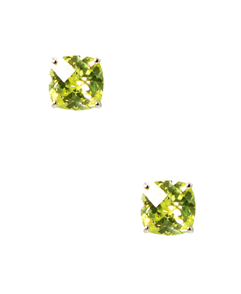 Zoom view for Citron Colored CZ Stud Earrings ONLINE EXCLUSIVE - Fox's