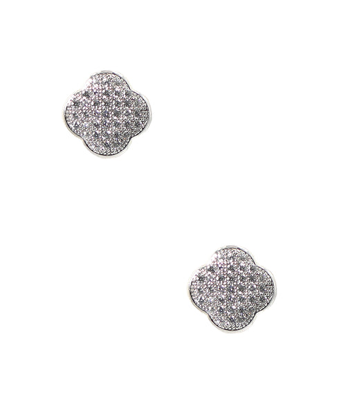 Zoom view for Clover CZ Earrings - Fox's