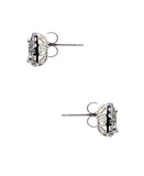 Emerald Cut Cubic Zirconia Halo Stud Earrings ONLINE EXCLUSIVE
