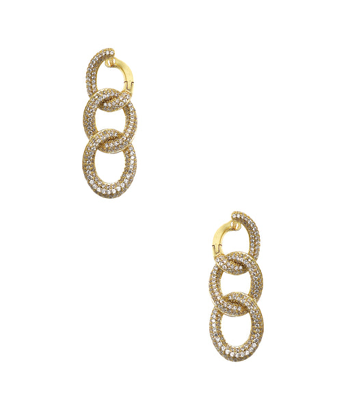 Zoom view for Cuban Link CZ Earrings