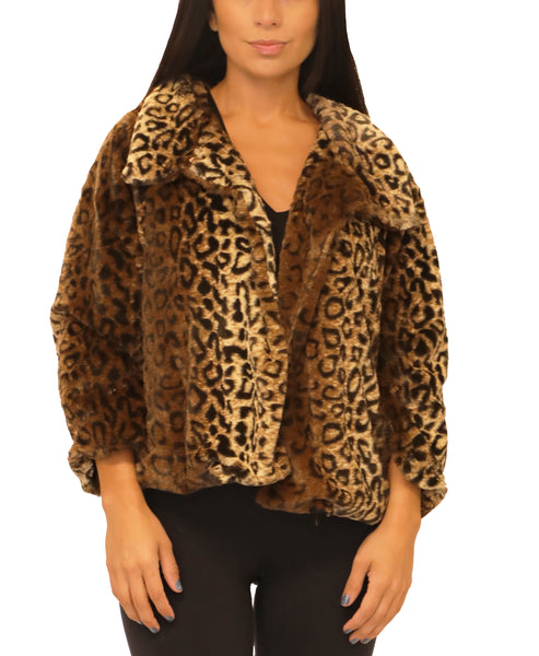 Faux Fur Leopard Jacket - Fox's