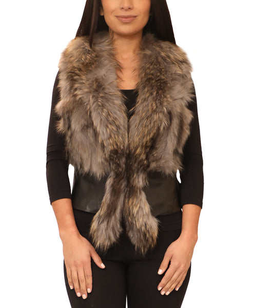 Leather Vest w/ Fur - Fox's