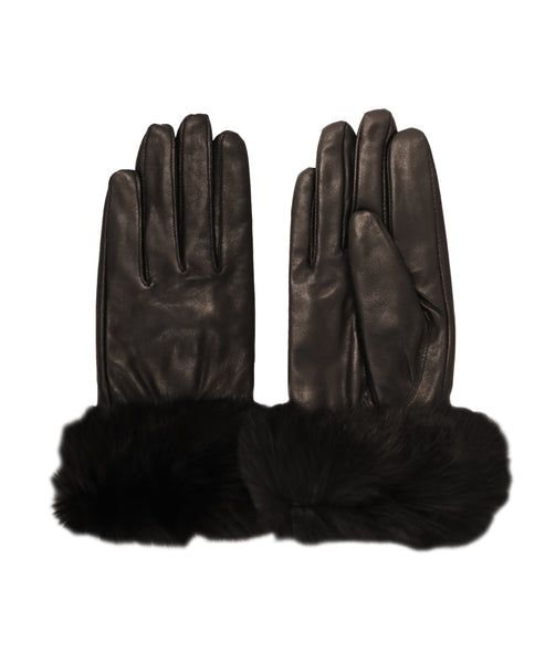 Leather Gloves w/ Fur Trimmed Cuffs - Fox's