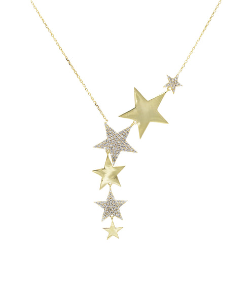Zoom view for Shooting Stars Necklace w/ Cubic Zirconia